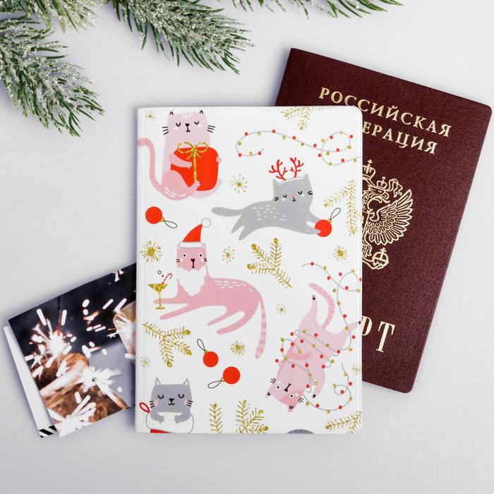 """Обложка для паспорта """"Котики"""""""