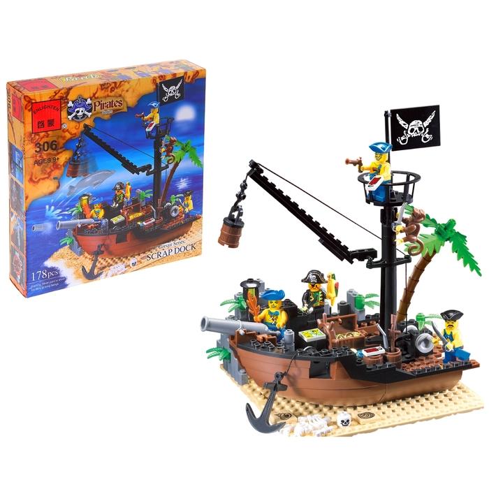 Конструктор «Пиратский корабль», 178 деталей