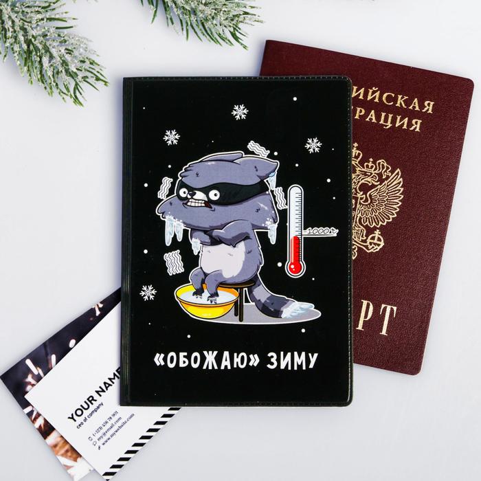 """Обложка для паспорта """"Обожаю зиму"""""""