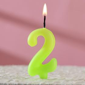 """Свеча для торта цифра """"Люминесцентная"""" """"2"""""""