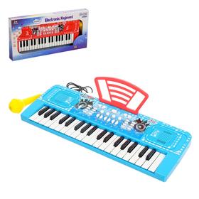 Синтезатор «Крутой музыкант», 37 клавиш, звуковые эффекты, с микрофоном и пюпитром, цвета МИКС