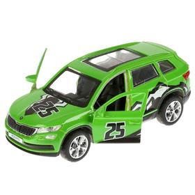 Машина металлическая «Skoda Kodiq спорт» 12 см, открывающиеся двери и багажник, инерционная