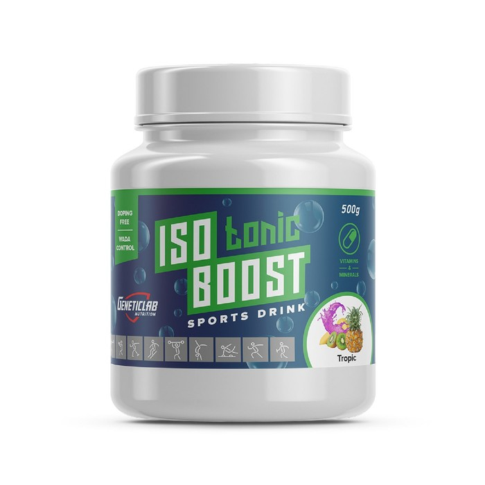 Изотоник Isotonic Boost Geneticlab, тропический микс 20 порций/500 г.