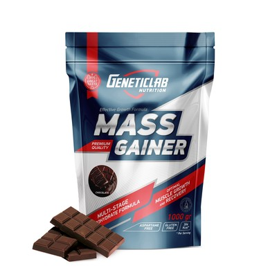 The Geneticlab gainer MASS GAINER, chocolate 10 servings/1000 g.