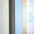 Набор бумаги для скрапбукинга «Голубой горошек», 10 листов, 30.5 × 30.5 см