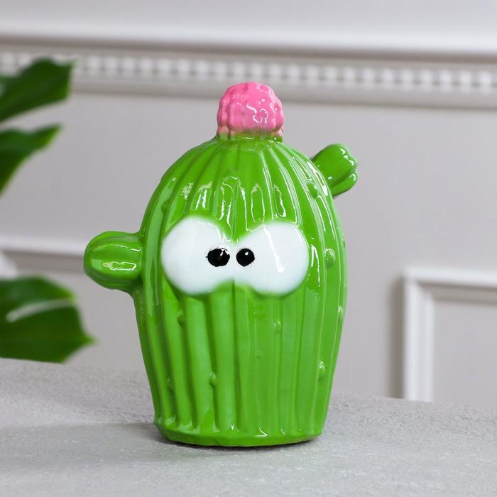 "Копилка ""Кактус"", зелёная, керамика, 17 см"