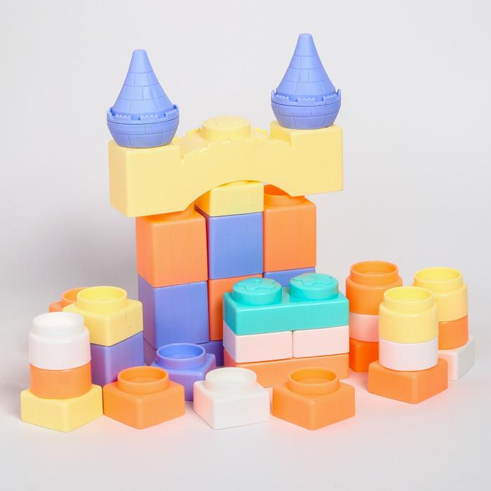 Набор для игры в ванной «Большой замок», конструктор, 37шт