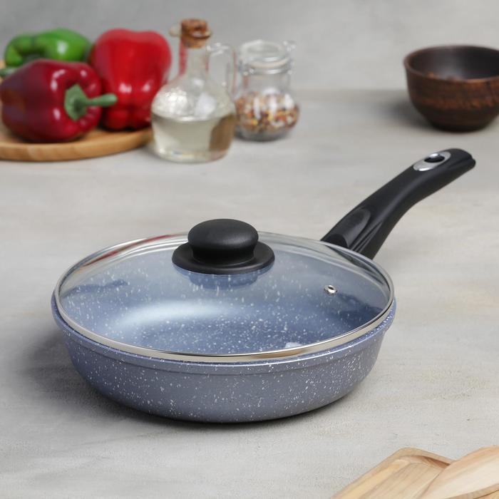 Сковородка «Северное сияние», 24×6,5 см, с съёмной ручкой и стеклянной крышкой