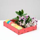Ящик-коробка «Макарунас», французский розовый, 25,5 х 20 х 4,5 см - фото 833091