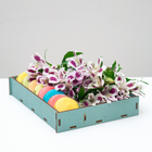Ящик-коробка «Макарунас», ниагара, 25,5 х 20 х 4,5 см - фото 701557