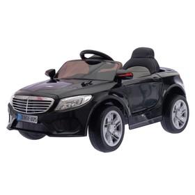 Электромобиль S CLASS, 2 мотора, EVA колёса, активная подвеска, кожаное сидение, цвет черный, (слом, лоб. стек.:Нет защ.ленты на фаре)