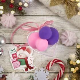 Подарочный набор для макияжа «Матрёшки», 2 предмета, в футляре, с открыткой, цвет МИКС
