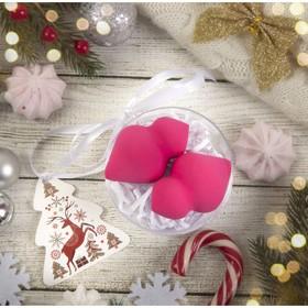 Подарочный набор для макияжа «Куколки», 2 предмета, в футляре, с открыткой, цвет розовый