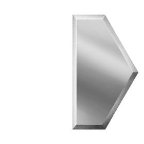 Зеркальная серебряная плитка «Полусота» с фацетом 10 мм, 100х173 мм
