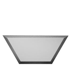 Зеркальная серебряная плитка «Полусота» с фацетом 10 мм, 200х86 мм