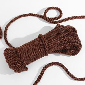 Cord twisted 10 ± 1m d8mm No. 65 brown.