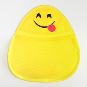 """Сетка для хранения игрушек в ванной """"Смайлик"""", цвет желтый"""