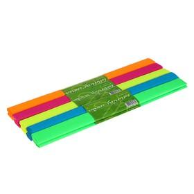 Бумага креповая в рулоне 50х250 см, 17 г/м², 5 цветов МИКС, флуоресцентные