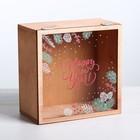 Коробка с оргстеклом Happy Hew Year, 20 × 20 × 10 см