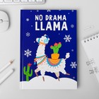 Ежедневник Зимняя коллекция No Drama LLama, формат А5, 80 листов