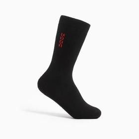 Носки мужские махровые, цвет чёрный, размер 27