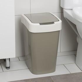 Ведро для мусора «Евро», 18 л, цвет МИКС