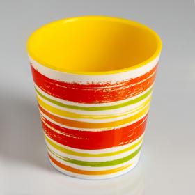 Вазон со вставкой «Краски», 1,1 л, цвет жёлтый