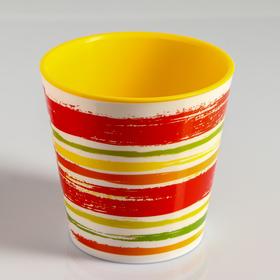 Вазон со вставкой «Краски», 2,1 л, цвет жёлтый