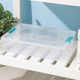 Контейнер для хранения с крышкой Smart Box, 3,8 л, 32×24×7 см, цвет МИКС