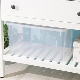 Контейнер для хранения с крышкой Smart Box, 27 л, 49×32×27 см, цвет прозрачно-бирюзовый