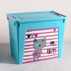 """Контейнер """"Smart Box"""" с декором Pet Shop 40л, цвет бирюзовый"""