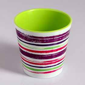 Вазон со вставкой «Краски», 1,1 л, цвет фиолетовый