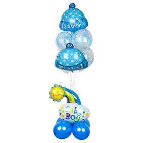 "A bouquet of balloons ""Baby"", set of 14 PCs, blue color"