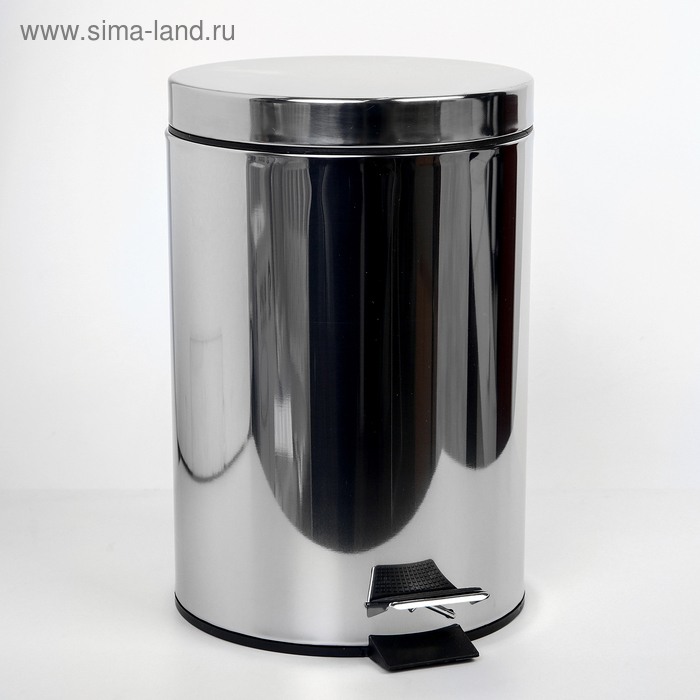 Garbage bucket with pedal 7 litres, stainless steel. steel