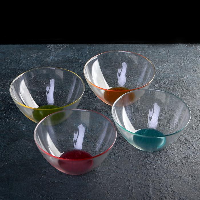 Набор салатников «Космос», d=17 см, 4 шт, цветное дно