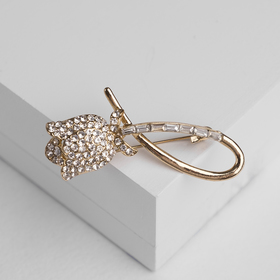 """Brooch """"Flower"""" with eyelet, white gold"""