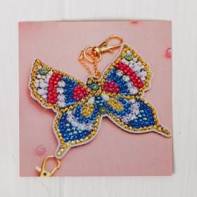 "Diamond embroidery keychain ""Pretty butterfly"""