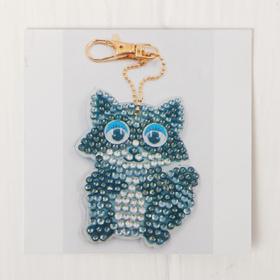 "Diamond embroidery keychain ""Raccoon"""