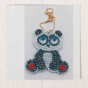 Алмазная вышивка-брелок «Панда», заготовка: 6 × 5 см