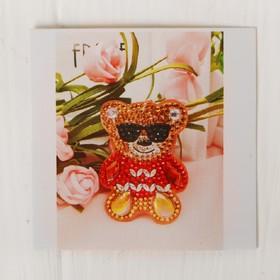 """Diamond embroidery keychain """"Bear"""""""