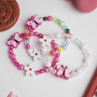 "Bracelet children's ""Vibracula"" butterfly with flower, MIX color"