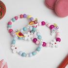 """Bracelet children's """"Vibracula"""" Toucan with a flower, MIX color"""