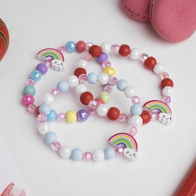 """Bracelet children's """"Vibracula"""" rainbow with a cloud, MIX color"""