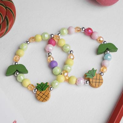 """Bracelet children's """"Vibracula"""" pineapple with the leaves, MIX color"""