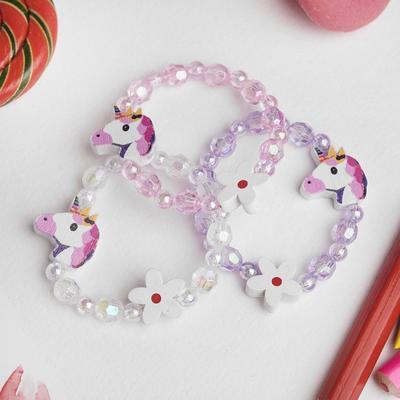 """Bracelet children's """"Vibracula"""" unicorn with flower, MIX color"""