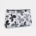 Cosmetic bag simple Butterfly 19*2*10 Department zip, black/white