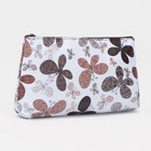Cosmetic bag simple Butterfly 19*2*10 Department with zipper, coffee/white