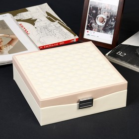 Box leatherette for jewelry