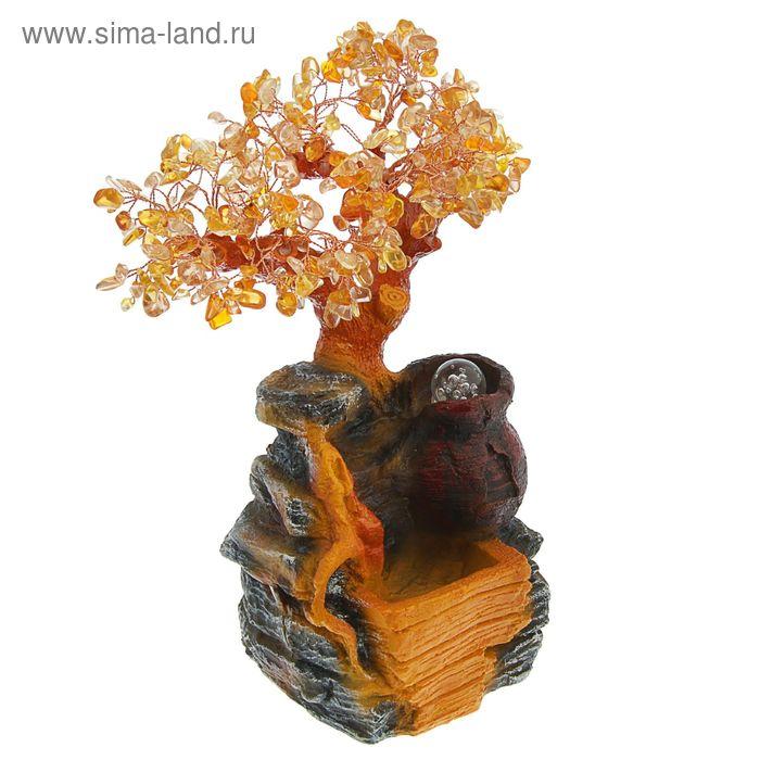 """Фонтан-дерево """"Кувшинчик"""", цвет янтарный"""