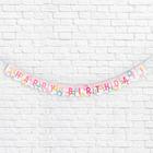 "Garland-mini on the ribbon, ""Happy Birthday!"" (donuts), 135 cm"